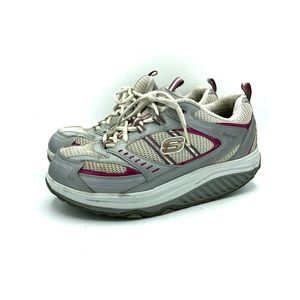 Skechers Shape Ups 11814 Womens 10 Gray Pink shoes